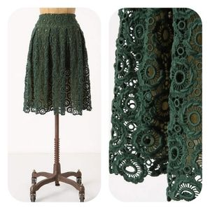 Anthro Moulinette Soeurs Lace High Waisted Skirt